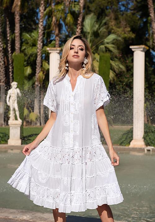 Хлопковое легкое платье AnastaSea