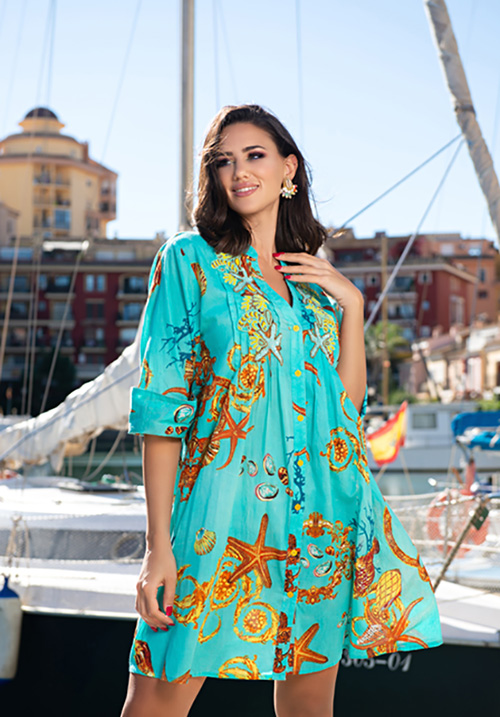 Туника-платье с морским принтом AnastaSea