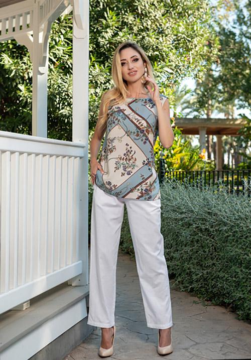 Легкие белые брюки AnastaSea