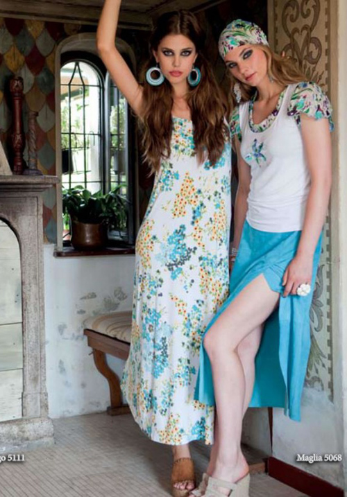 Трикотажная блуза Monella 5068