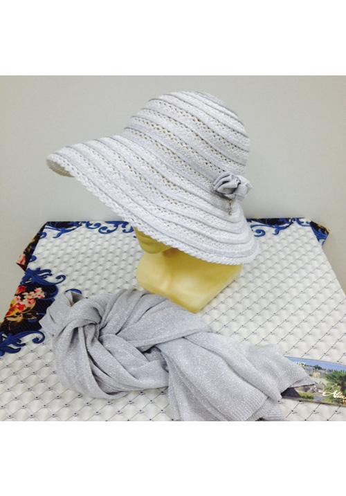 Шляпка летняя и шарфик комплектом