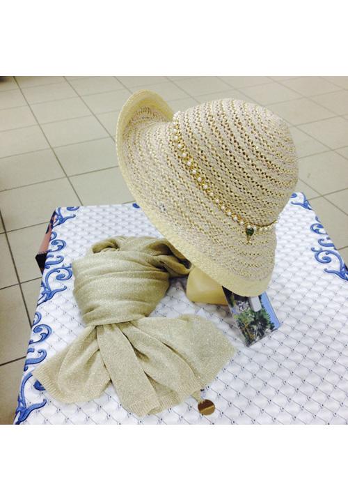 Шляпка летняя с шарфиком