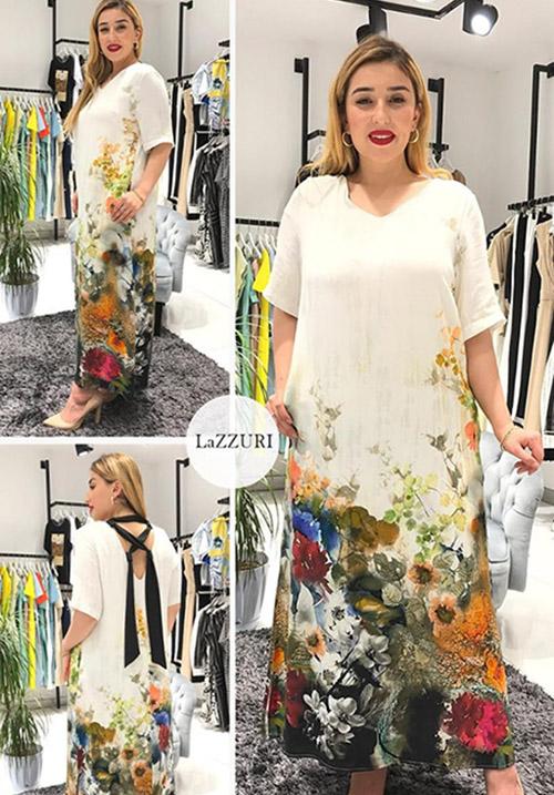 Льняное платье А Силуэта Phardi