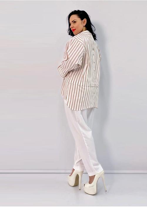 Блуза в вертикальную полосу Kapris