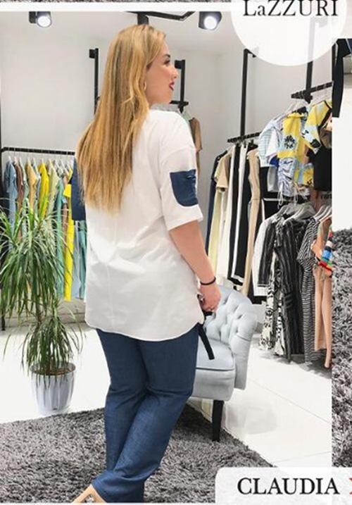 Костюм с принтом (блуза+брюки) Lazzuri