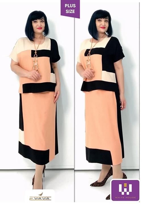 Костюм льняной (блуза+юбка) VIAVIA