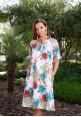 Платье с принтом Яркие Цветы Indiano