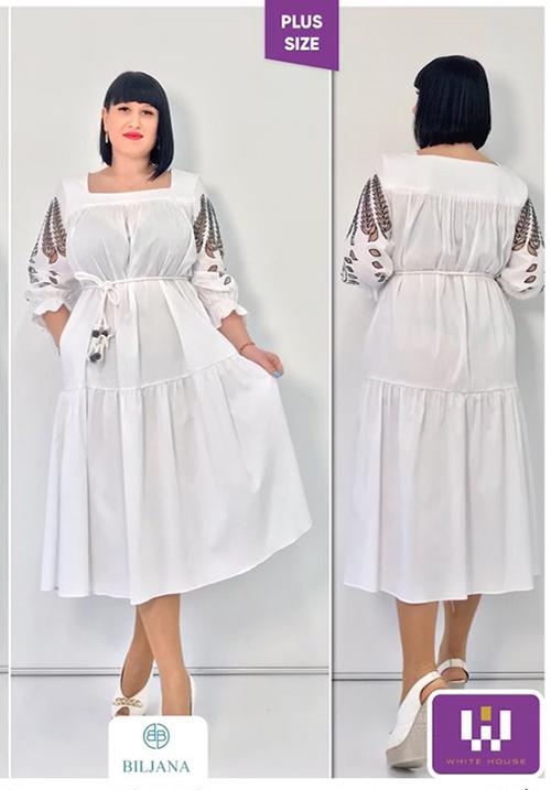 Платье легкое белое BILJANA
