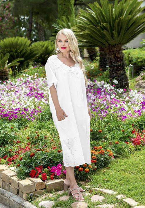 Платье-миди прямого силуэта AnastaSea