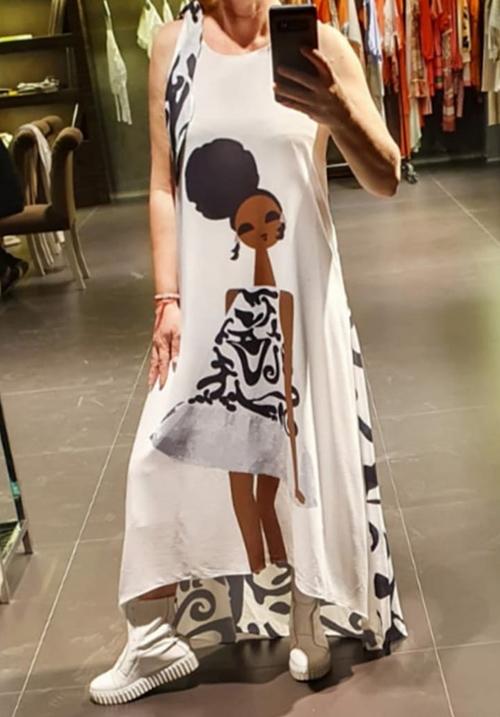 Платье SAY с принтом