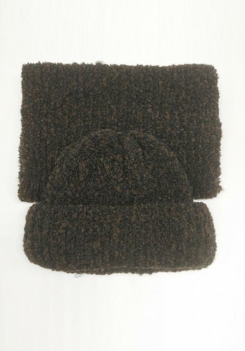 Комплект: Шапка с шарфом Enrico Coveri мелкое букле