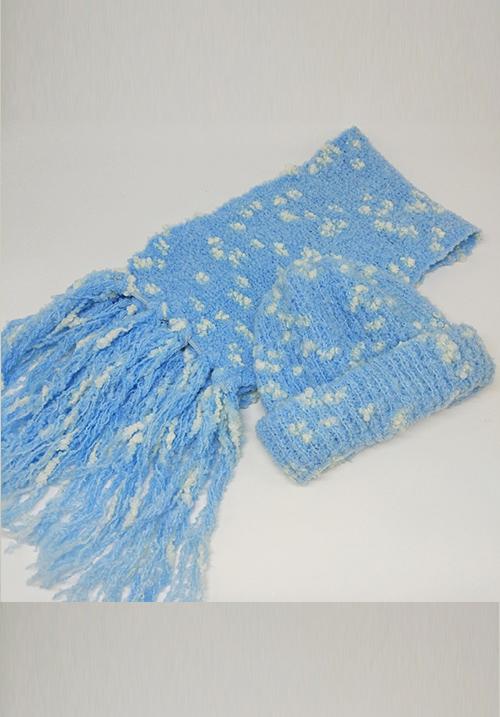 Комплект: Шапка с шарфом Idea+ 1026